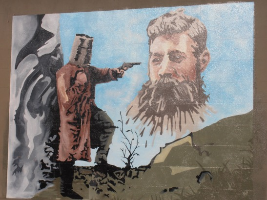 Mural on the Benalla Museum wall by D.R. Close