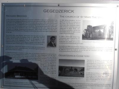 Gegedzerick Cemetry Plaque