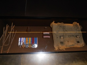Australian War Memorial Kit Bag containing rations - easy target for enemy