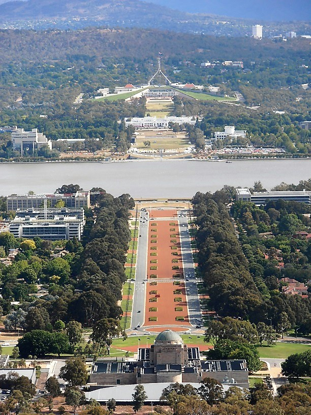 Canberra, Parliament House, Old Parliament House and the War Memorial