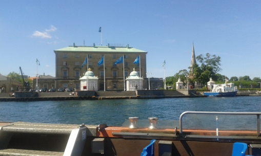 Pavillions where Princess Mary boards the royal yacht