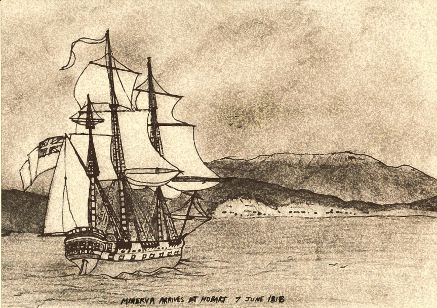 Minerva Arrives in Hobart 7 June 1818 13